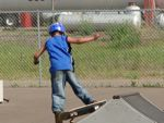 skate boarder at Onamia skate park