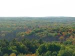 Fall colors Mille Lacs Lake from Kathio fire tower