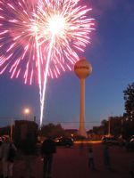 Onamia water tower fireworks