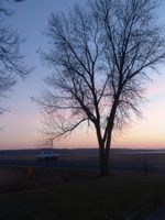 sunset near Ogechie and Mille Lacs Lake historic marker
