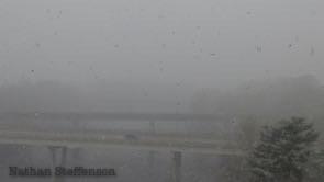 snow at 11:43 laurel st bridge can be seen but not Washinton st bridge