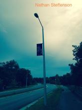 street light top rotated